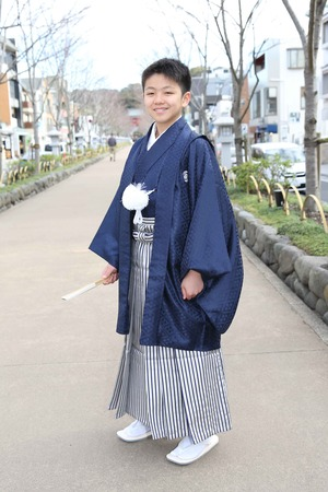 鎌倉小学生卒業袴 男児  (11)