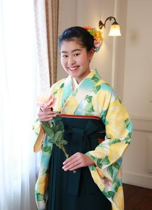 鎌倉小学生卒業袴美容着付け写真