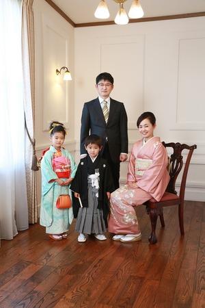 鎌倉七五三家族写真2