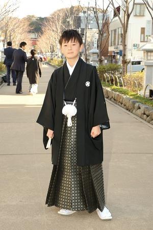 鎌倉小学生卒業袴男児21