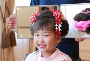 鎌倉七五三7歳日本髪写真