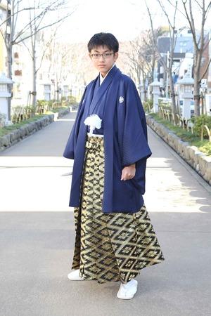 鎌倉小学生卒業袴 男児  (7)