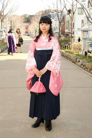 鎌倉小学生卒業袴女児22