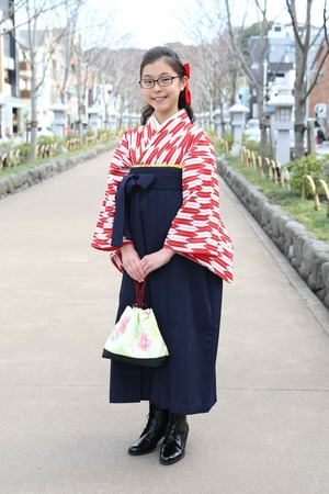 鎌倉小学生卒業袴 女児 (14)