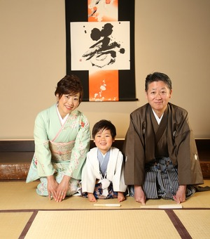 鎌倉七五三 5歳お祝い 鎌倉家族写真 和室撮影