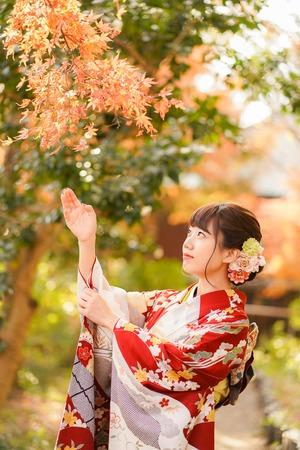 (3)鎌倉 成人式前撮り 紅葉ロケーションフォト