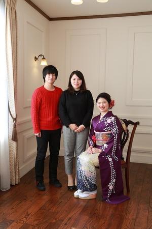 鎌倉成人振袖家族写真
