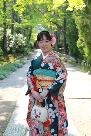 鎌倉振袖ロケーション写真お寺