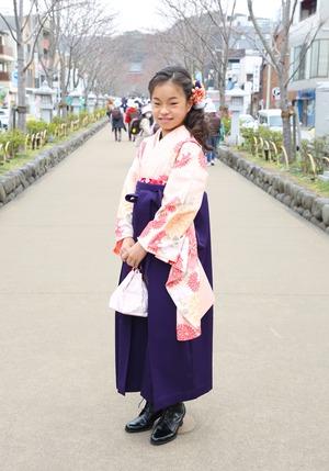 鎌倉 小学生卒業袴レンタル5