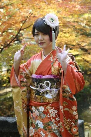 鎌倉成人式紅葉ロケーション写真