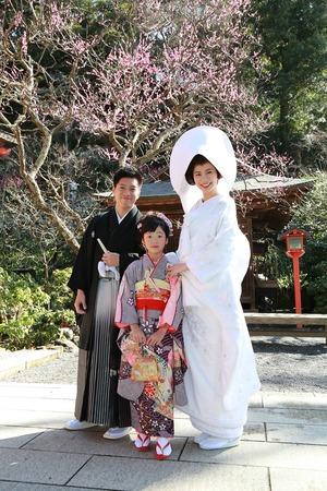 荏柄天神社家族結婚式写真