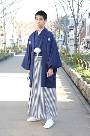 鎌倉小学生卒業袴 男児  (5)