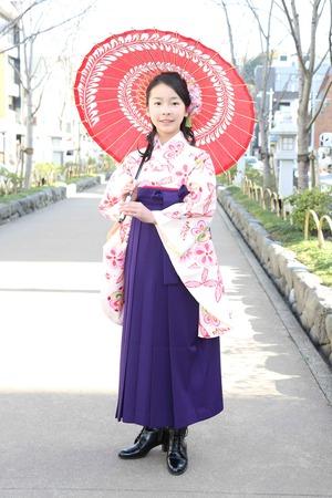 鎌倉小学生卒業袴 女児 (12)
