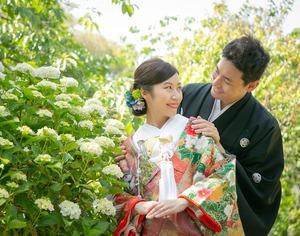 鎌倉紫陽花フォトウェディング