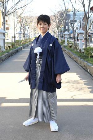 鎌倉小学生卒業袴 男児  (3)