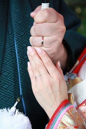 鎌倉結婚奉告祭 前撮り撮影 屋外ロケーション