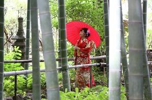 鎌倉竹林庭園 成人式前撮り 屋外撮影 ロケーション写真 出張撮影