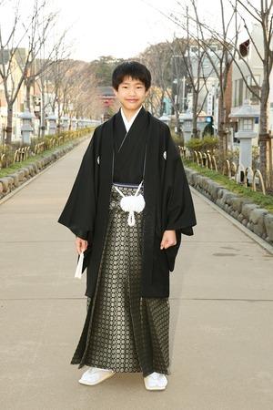 鎌倉小学生卒業袴男児9