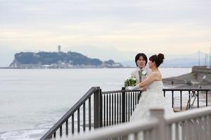江ノ島海婚礼ロケーション撮影