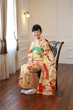 鎌倉成人式振袖3