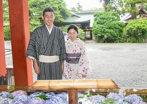 鎌倉 レンタル着物 記念日 写真 夫婦 2