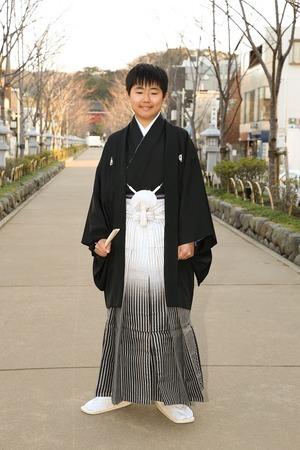 鎌倉小学生卒業袴男児6