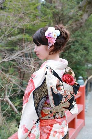 鶴岡八幡宮成人式振袖写真
