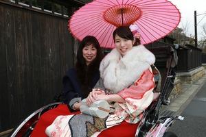 鎌倉人力車ロケーション撮影