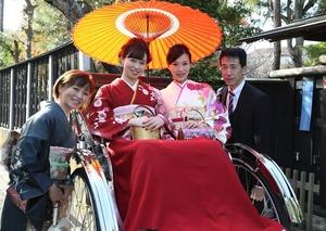 鎌倉 振袖レンタル 人力車ロケーションフォト