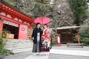 荏柄天神社結婚奉告祭写真