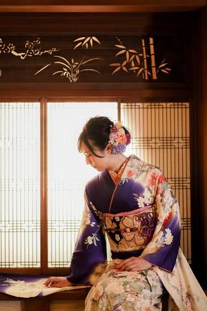 成人式 ママ振袖 前撮り アンティーク フォトスタジオ  鎌倉 1