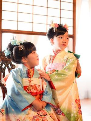 鎌倉七五三7歳写真 前撮り  双子でお祝い 9