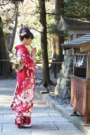 成人前撮り屋外ロケーション撮影 鎌倉