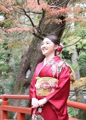 成人前撮り 鎌倉紅葉ロケーションフォト 出張屋外