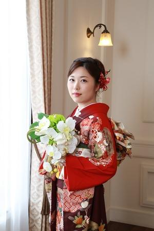 鎌倉成人式振袖写真1