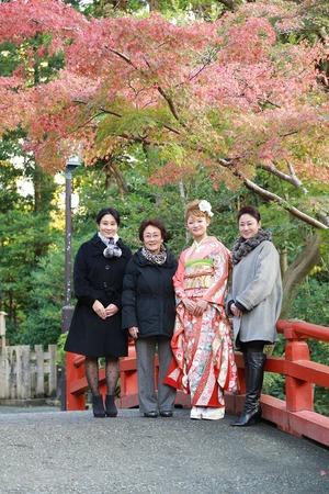 鶴岡八幡宮成人振袖写真3