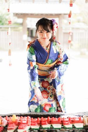 鎌倉宮 成人式振袖 ご祈祷 ロケーションフォト2