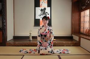 鎌倉十三参り振袖和室写真