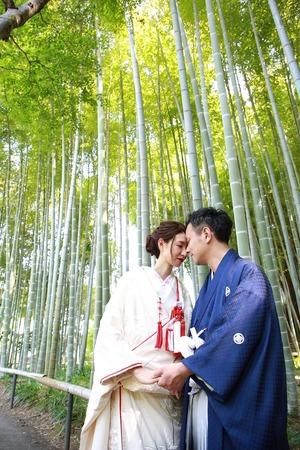 鎌倉和装前撮り 和装屋外撮影 竹林