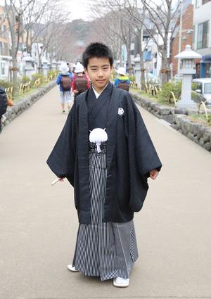 鎌倉 小学生男子 卒業袴 写真24