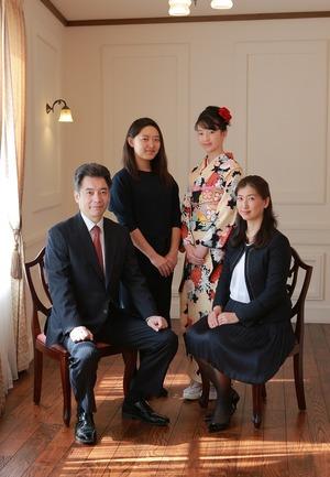 鎌倉十三参りスタジオ家族写真
