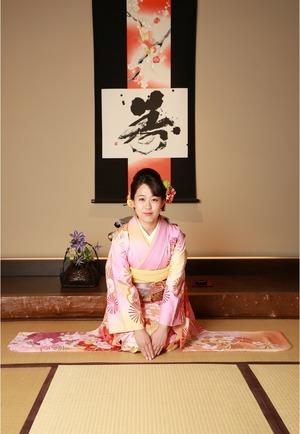 鎌倉振袖写真 鎌倉成人式 鎌倉中振袖和室写真