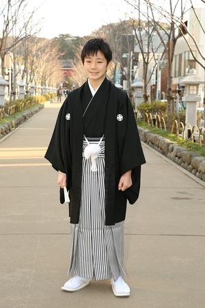 鎌倉小学生卒業袴男児12