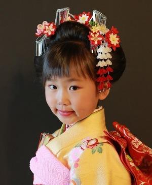 7歳日本髪写真鎌倉スタジオ