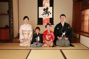 鎌倉七五三家族写真和室