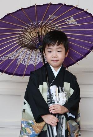 鎌倉七五三スタジオ写真和傘