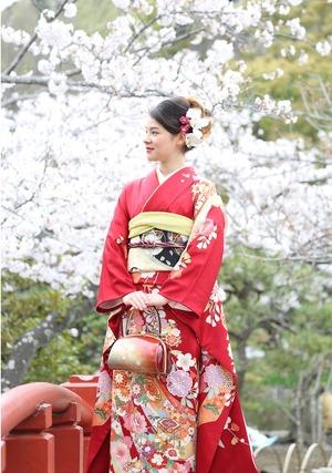 鎌倉 桜 成人式 振袖撮影 ロケーション撮影 記念写真
