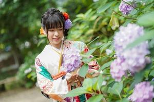 成人式前撮り 紫陽花 アジサイ ロケーションフォト 5