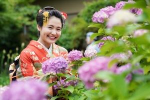 成人式前撮り 紫陽花 アジサイ ロケーションフォト 7