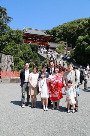 鶴岡八幡宮お宮参り写真5